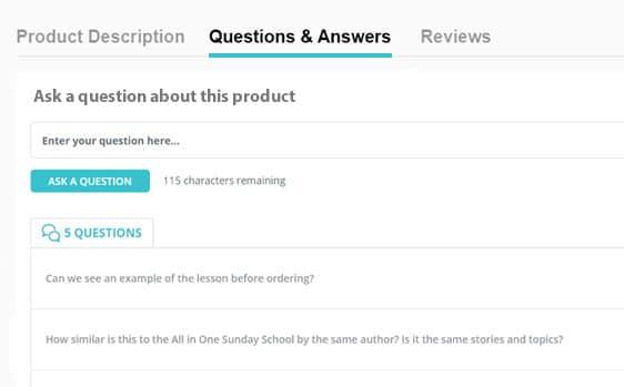 ecommerce-Q&A-widget